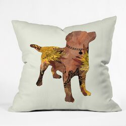 Iveta Abolina Lab Throw Pillow