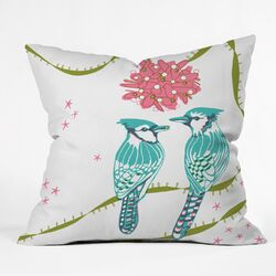 Betsy Olmsted Holiday Birds Throw Pillow