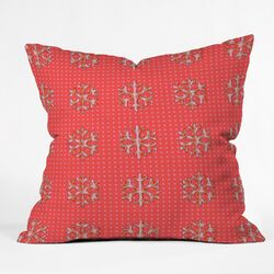 Ingrid Padilla Flakes A Flutter Throw Pillow