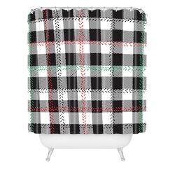 Zoe Wodarz Cozy Cabin Woven Polyester Shower Curtain