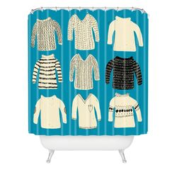 Mummysam Sweaters Woven Polyester Shower Curtain