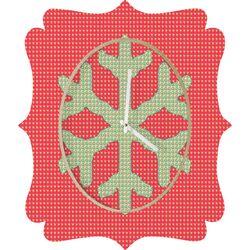 Ingrid Padilla Snowflake Wall Clock