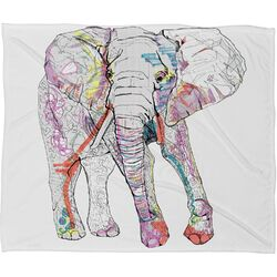 Casey Rogers Elephant 1 Polyester Fleece Throw Blanket
