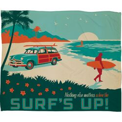 Anderson Design Group Surfs Up Polyester Fleece Throw Blanket