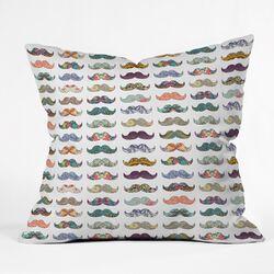 Bianca Mustache Mania Outdoor Throw Pillow