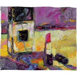 Ginette Fine Art Coco Polyester Fleece Throw Blanket