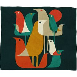 Budi Kwan Flock Of Bird Polyester Fleece Throw Blanket