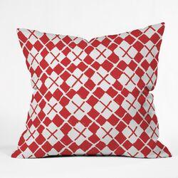 Social Proper Holiday Argyle Throw Pillow