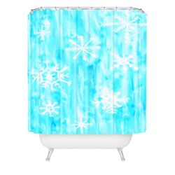 Rosie Brown Snowing Woven Polyester Shower Curtain