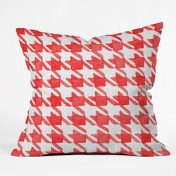 Social Proper Candy Houndstooth Throw Pillow