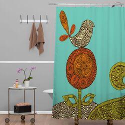 Valentina Ramos Polyester Bird in The Flower Shower Curtain