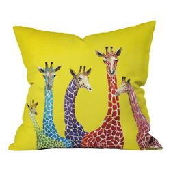 Clara Nilles Jellybean Giraffes Indoor/Outdoor Throw Pillow