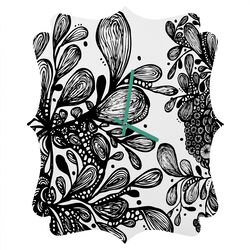 Julia Da Rocha Wild Leaves Wall Clock
