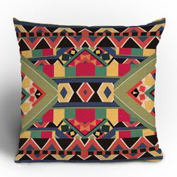 Bianca Green Bold Woven Polyester Throw Pillow