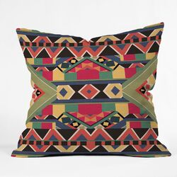 Bianca Green Bold Polyester Throw Pillow