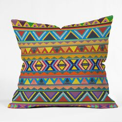 Bianca Green Play Woven Polyester Throw Pillow