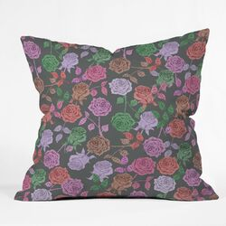 Bianca Green Woven Polyester Throw Pillow