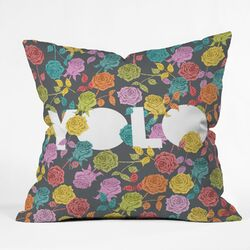 Bianca Green Yolo Indoor/Outdoor Polyester Throw Pillow
