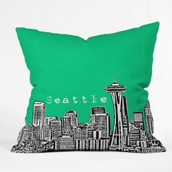 Bird Ave Seattle Indoor/Outdoor Polyester Throw Pillow