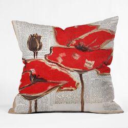 Irena Orlov Red Perfection Outdoor Throw Pillow