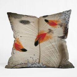 Iveta Abolina Polyester Feather Dance Indoor/Outdoor Throw Pillow