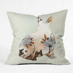 Iveta Abolina Little Rabbit Woven Polyester Throw Pillow