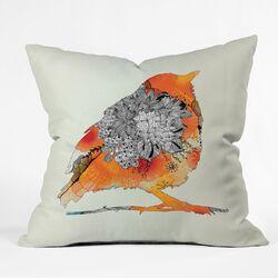 Iveta Abolina Bird Woven Polyester Throw Pillow