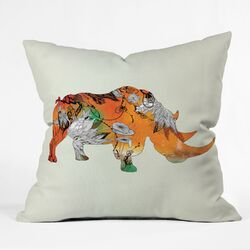 Iveta Abolina Polyester Rhino Indoor/Outdoor Throw Pillow