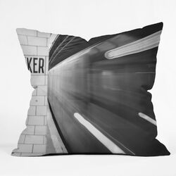 Leonidas Oxby Polyester The Subway Indoor/Outdoor Throw Pillow