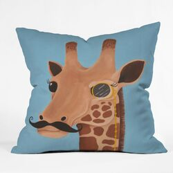 Mandy Hazell Gentleman Giraffe Throw Pillow