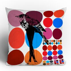 Randi Antonsen Poster Heroins 5 Polyester Throw Pillow