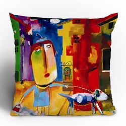 Robin Faye Gates Sylvia Needs Eggs Polyester Throw Pillow