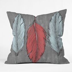 Wesley Bird Feathered Outdoor Throw Pillow