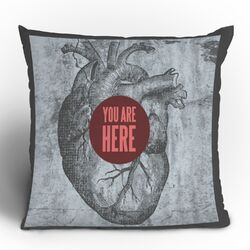 Wesley Bird You Are Here Polyester Throw Pillow