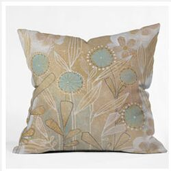 Cori Dantini Blue Floral Throw Pillow