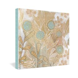 Cori Dantini Blue Floral Gallery Wrapped Canvas