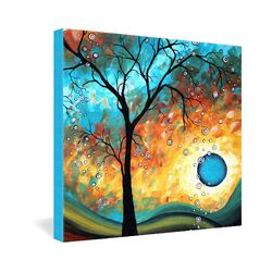Aqua Burn by Madart Inc Graphic Art on Canvas