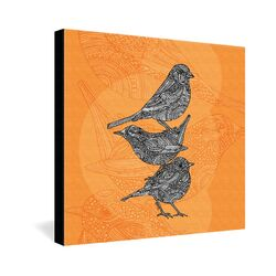 3 Little Birds by Valentina Ramos Graphic Art on Canvas