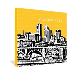 Minneapolis by Bird Ave. Graphic Art on Canvas