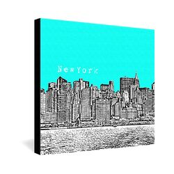 New York by Bird Ave. Graphic Art on Canvas