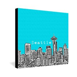Seattle by Bird Ave. Graphic Art on Canvas