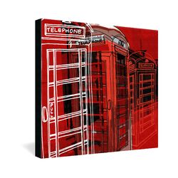 Phone Box by Aimee St Hill Graphic Art on Canvas