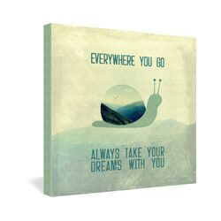 Always Take Your Dreams with You by Belle13 Textual Art on Canvas