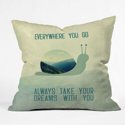 Belle13 Always Take Your Dreams with You Polyester Throw Pillow