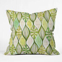 Cori Dantini Green Polyester Throw Pillow