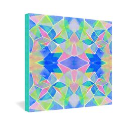 Amy Sia Chroma Blue Gallery Wrapped Canvas