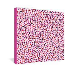 Watercolor Dots Berry by Garima Dhawan Graphic Art on Canvas