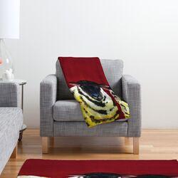 Clara Nilles Lemon Spongecake Sheep Polyester Fleece Throw Blanket