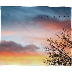 Bird Wanna Whistle Bird Line Polyester Fleece Throw Blanket