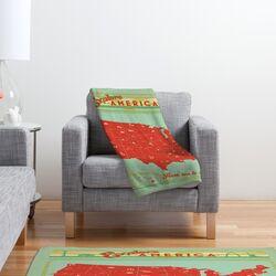 Anderson Design Group Explore America Polyester Fleece Throw Blanket